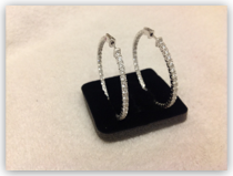 Earrings- CZ inside out hoops