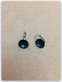 Earrings- Ocean Blue Swarovski