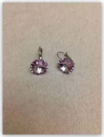 Earrings- Lavendar Swarovski